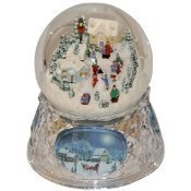Acrylic Water Globe, Inside a Snow Village Thumbnail