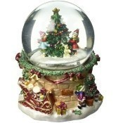 Snow Globe with Christmas Tree and Children Thumbnail