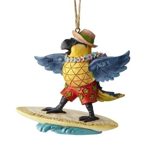 Margaritaville - Surfing Parrot Ornament Thumbnail