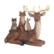 Lying Deer with Woodland Friends Thumbnail