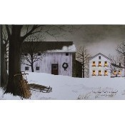 Lighted Large Christmas Time Canvas Thumbnail