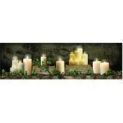 Lighted Christmas Mantel of Candles Canvas Thumbnail