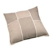 Cotton Herringbone Cushion -  Beige Thumbnail