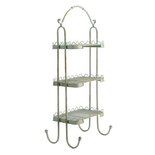 Iron Shelf Unit - Antique Green Thumbnail