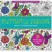Butterfly Designs Coloring Book Thumbnail