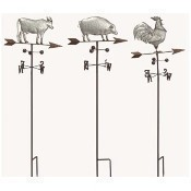 Metal Farm Animal Weather Vane Yard Stick Thumbnail