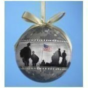 Army Camouflage Ball Ornament Thumbnail