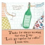 Curly Girl - Coffee & Wine Cocktail Napkins Thumbnail