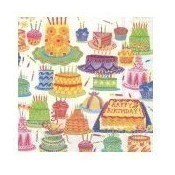 Birthday Cakes Cocktail Napkin Thumbnail