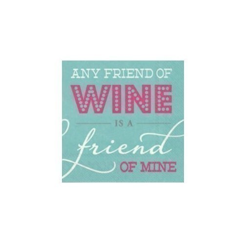 Any Friend Of Wine Cocktail Napkins Thumbnail