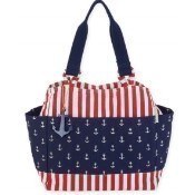 Anchors Away Shoulder Tote - Navy Thumbnail