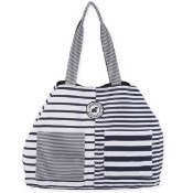 Black Stripe Gap Tote Thumbnail