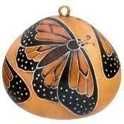 Monarch Butterflies Gourd Ornament Thumbnail