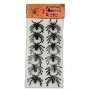Set of 12 Flocked Spiders Thumbnail