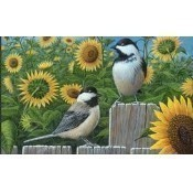 Chickadees and Sunflowers Doormat Thumbnail