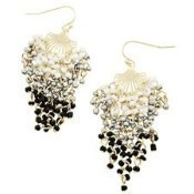 Black Ombre Seed Bead Dangle Earrings Thumbnail