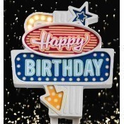 Flashing Cake Topper - Happy Birthday Thumbnail
