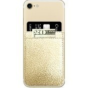 Gold Faux Leather Phone Pocket Thumbnail