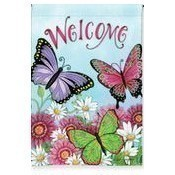 Welcome Butterfly Garden Flag Thumbnail