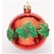 Christina's World - Red Orb with Holly Ring Thumbnail