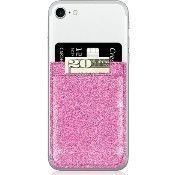 Pink Glitter Faux Leather Phone Pocket Thumbnail
