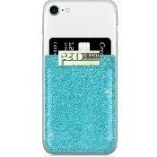 Turquoise Glitter Faux Leather Phone Pocket Thumbnail