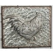 Metal Embossed Rooster Frame Thumbnail