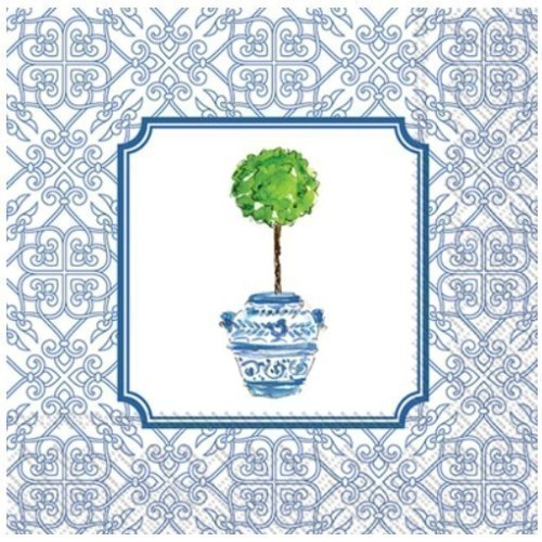 Blue Topiary Lunch Napkins Thumbnail