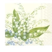 Convallaria Cream Lunch Napkins Thumbnail