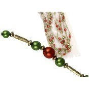 Gold, Red and Green Bead Garland Thumbnail