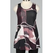 Sleeveless Tunic - Edward Print Thumbnail