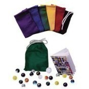 Marbles with Color Canvas Pouch Thumbnail