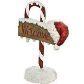 Candy Cane Welcome Sign - 32