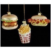 Noble Gems Glass Fast Food Ornament Thumbnail