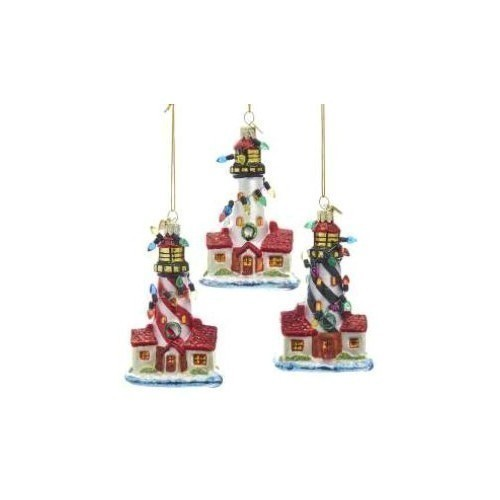 Noble Gem Glass Lighthouse Ornament Thumbnail