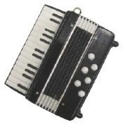 Black Accordion Ornament Thumbnail