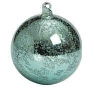 Antique Blue Ball Ornament 4