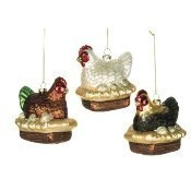 3 French Hens Ornament Set Thumbnail