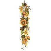 4' Harvest Sunflower & Lantern Garland Thumbnail
