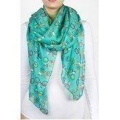 Bicycle Race Scarf - Green Thumbnail