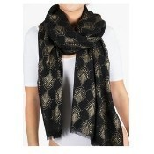 Deco Burst Scarf - Metallic Black Thumbnail
