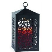 Scroll Candle Warmer Lantern, Black Thumbnail