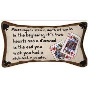 Marriage is....Deck of Cards Pillow Thumbnail