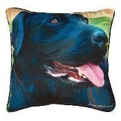 Handsome Black Lab Pillow Thumbnail