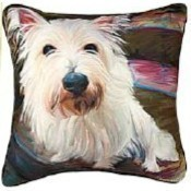 Little Westie Pillow Thumbnail