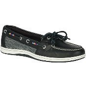 Black Firefish Leather Rainbow Boat Shoes Thumbnail