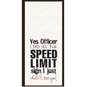 Officer Speed Limit Towel Thumbnail