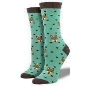 Bamboo Fox Lover Socks - Mist Thumbnail
