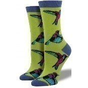 Bamboo Hummingbirds Socks - Citron Thumbnail