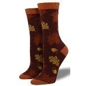Bamboo Autumn Leaves Socks - Auburn Thumbnail